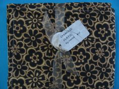 Classy Black and Tan Floral Baby Change Mat Change by BAGSbyMartha, $27.00