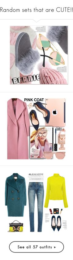 """""""Random sets that are CUTE!!"""" by berrypoplife ❤ liked on Polyvore featuring pompombeanies, Gucci, Linda Farrow, Trendy, rosegold, StreetChic, pinkcoats, gearbest, By Malene Birger and RED Valentino"""