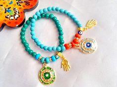 SALEGYPSY NAZAR bracelets ethnic bracelets bohemian by Nezihe1