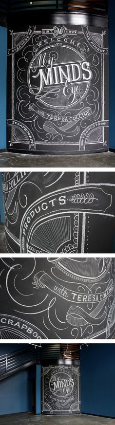 pinterest.com/fra411 #typography #lettering My Mind's Eye by Natalie Krick