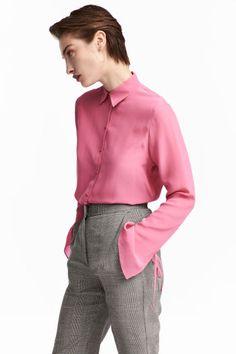 Шелковая рубашка - Розовый - Женщины | H&M RU 1