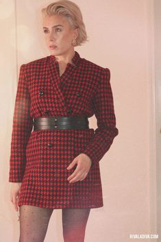 Very Easy Houndstooth Jacket Outfit // Vogue V9133 - Riva la Diva Fashion Games, Fashion Outfits, Houndstooth Jacket, Blazer Outfits, Get Dressed, Autumn Winter Fashion, Diva, Vogue, Glamour