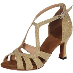 LOSLANDIFEN Women s Ankle Strap High Heel Dance Shoes Weave Style Buckle  Salsa Tango Latin Sandals     See this great product. d6b2adb4f849