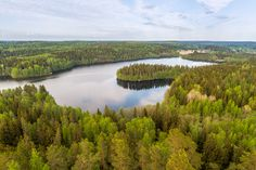 Lake view from the lookout tower of Aulanko in Finland - Teemu Tretjakov