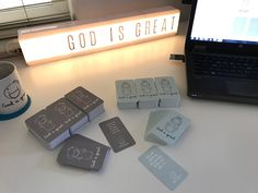 God is Great prayer cards: body of Christ with John 14:9 verse and Mary with Luke 1:46 verse | available in 10-pack at our online store