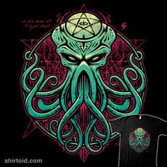 Cthulhu Awakens | Shirtoid #book #cthulhu #hplovecraft #horror #studiom6