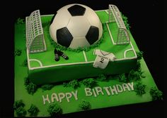 Football cake - for all your cake decorating supplies, please visit craftcompany.co.uk cake by www.creativecakeart.com.au