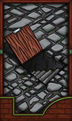 Card for RPG fantasy videogame. A secret trapdoor.