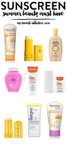 Sunscreen | Summer Beauty Must Have - My Newest Addiction