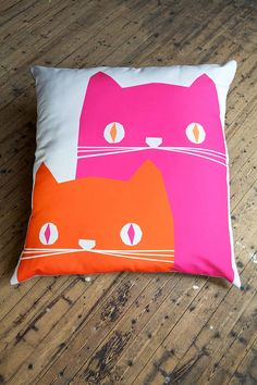 ronnie and frank giant floor cushion by yoke | notonthehighstreet.com