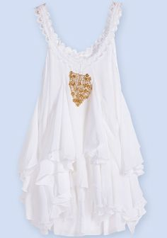 Flirty Little White Dress - add some cute gladiator sandals, bangles, earrings!!!