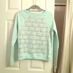 PINK embellished pullover Teal embellished pullover sweatshirt by PINK, size small but fits a medium PINK Victoria's Secret Tops Sweatshirts & Hoodies