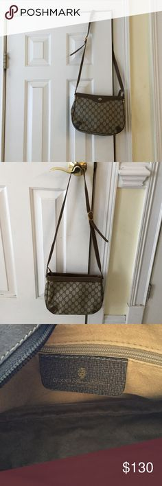 Gucci bag Nice shoulder bag some wear on strap adjustable strap strap can be repaired with glue Gucci Bags Shoulder Bags