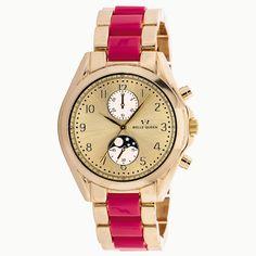 Para las amantes del color rosa y los relojes. ¡No hay nada más chic que este reloj de la marca Belle Queen de CRISTIAN LAY!!