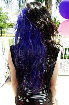 half black half blue