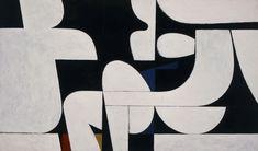 "amare-habeo: "" Yannis Moralis (Greek, 1916 - Dialogue, 1974 Acrylic on canvas "" National Gallery, National Art, Geometric Painting, Abstract Art, Greek Paintings, Ellsworth Kelly, Art Articles, Ecole Art, Greek Art"