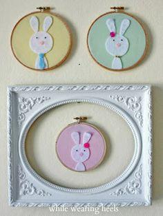 While Wearing Heels: Make A Custom Felt Bunny Family