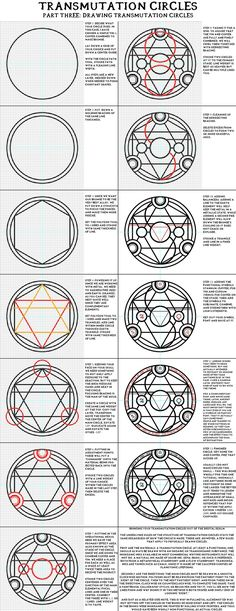 transmutation circles ~ Fullmetal Alchemist<< just pinning this cus, you know, reasons. Might come in handy