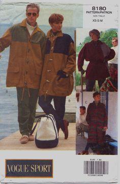 90s Vogue Sport Pattern 8180 Unisex Jacket & Coat by CloesCloset, $12.00