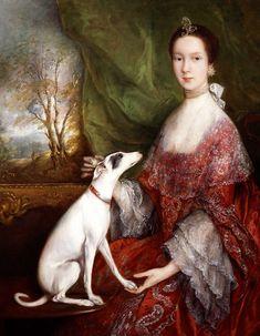 Portrait of Elizabeth Jackson, Mrs Morton Pleydell, by Thomas Gainsborough, 1760.
