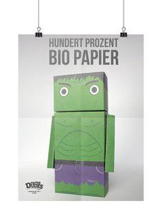 Hulk Super Hero Paper Dude