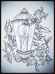 Lantern tattoodesign