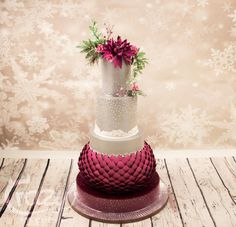 Winter Wedding Cake - Cake by Crazy Sweets