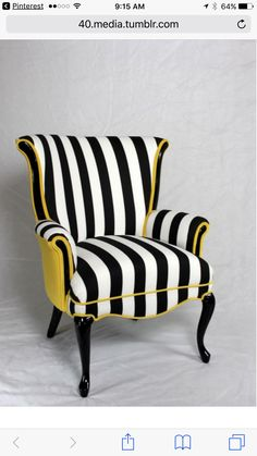 Black and white striped chair Shop Interior Design