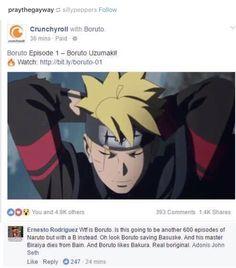 Boruto, the next Bokage lmao. I really love Boruto though. Naruto Sasuke Sakura, Naruto Cute, Naruto Shippuden Anime, Anime Naruto, Manga Anime, Anime Nerd, Haikyuu Anime, Otaku Anime, Funny Naruto Memes