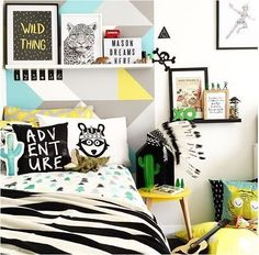 Styling perfection   @thebooandtheboy  #kidsroom #colour #boysroom #boysdecor…