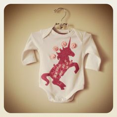 Kitty & the Cat girls 'Unicorn' long sleeved romper $18.00 By order only www.facebook.com/Kittyandthecat  kittyandthecat@hotmail.com