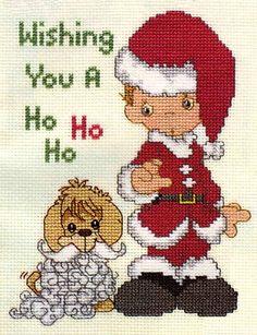 Precious MomentsTM        Free Chart - Wishing You A Ho Ho Ho