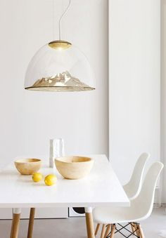 LED blown glass pendant lamp MOUNTAIN VIEW   Pendant lamp by @AxoLight