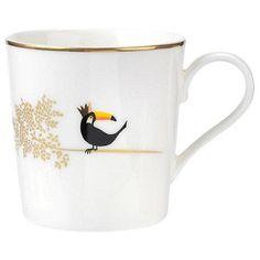 Sara Miller Piccadilly Terrific Toucan Bone China Mug Portmeirion Porcelain Mugs, Ceramic Cups, White Porcelain, Wrendale Designs, China Mugs, Beautiful Gift Boxes, Mugs Set, Fine China, Tableware