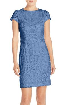 JS Collections Short Sleeve Soutache Cocktail Dress available at #Nordstrom