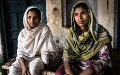 Akhleema and Tasleema, two sisters from Kolkata, who were trafficked to Haryana. Image by Carl Gierstorfer. India, 2013.
