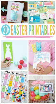 20+ Cute Easter printables. This is a great collection of Easter gift ideas and Easter decorations!