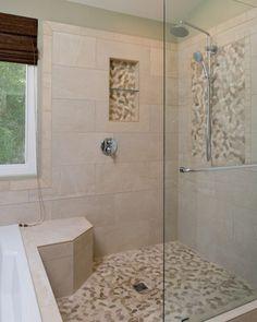 55 Best Pebble tile shower floor small bathroom images   Pebble tile Vertical Stone Bathroom Designs Small Html on fireplace designs stone, bathroom sinks stone, bathroom tiles stone,