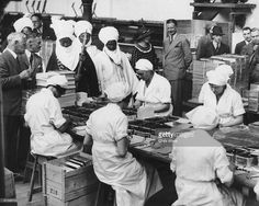 Emir of Kano,Abdullahi Bayero on tour of the Rowntrees chocolate factory,UK, 29th June 1934. Credit:Getty Images