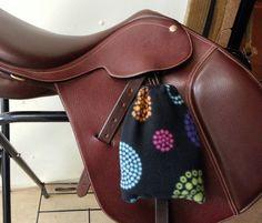 English Saddle Horse Tack Stirrup Iron Fleece Covers BLACK FIREWORKS