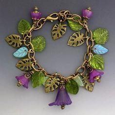 Vintage Style Purple Garden BraceletPurchase