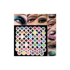 48/60 Colors Mineral Glitter Matte Eyeshadow Eye Shadow Cosmetics... ($15) ❤ liked on Polyvore featuring beauty products, makeup, eye makeup, eyeshadow, white, mineral eyeshadow, palette eyeshadow, mineral eye shadow and mineral eye makeup
