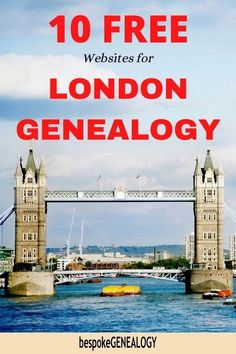 10 Free Websites for London Genealogy. Here are 10 great British genealogy resources to help you find your London Ancestors. Free Genealogy Sites, Genealogy Research, Family Genealogy, London Metropolitan, England Map, Genealogy Organization, History Online, London Pictures, London Museums