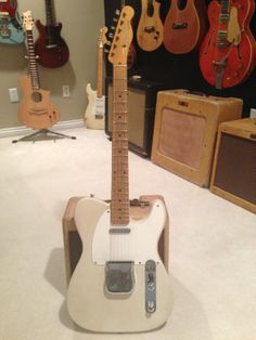 1957 Fender Telecaster Vintage Guitar, slight V neck under 7 lbs.