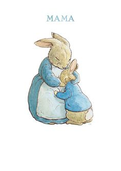 Mama Bunny Hugs Peter Rabbit inspired by Beatrix Potter Counted Cross Stitch or Counted Needlepoint Pattern Needlepoint Patterns, Counted Cross Stitch Patterns, Peter Rabbit Tattoos, Beatrix Potter Illustrations, Beatrice Potter, Peter Rabbit And Friends, Rabbit Art, Cross Stitch Pictures, Bunny Art