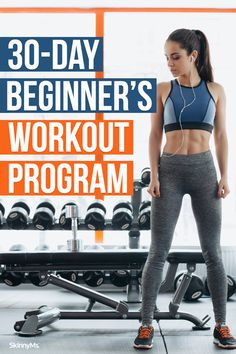 This 30-day beginner's workout program offers a mix of full-body and isolation workouts to get your entire body for a path into a healthier life. Beginner Workout Program, Best Workout Plan, Hiit Program, Workout For Beginners, Workout Challenge, Workout Programs, Beginner Workouts, Dumbbell Workout, Toning Workouts