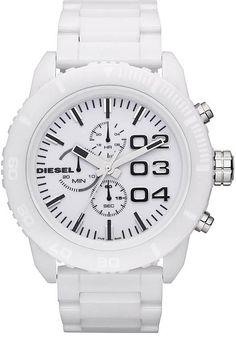 86eb357ae7d Diesel Mens DZ4220 Chronograph White Ceramic Watch Diesel Watches For Men