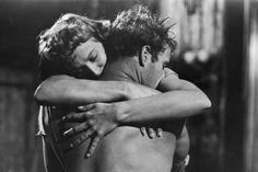 Kim Hunter and Marlon Brando