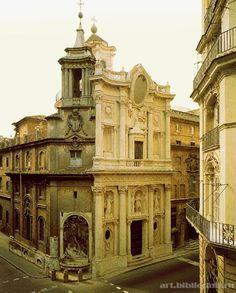 Борромини, Франческо  Церковь Сан Карло алле Кватро Фонтане. Фасад  1664-1667