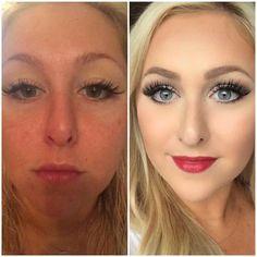 InstaGLAM, before and after, makeup, makeover, transformation, glam, um, makeup tutorials, mallory ervin